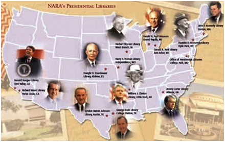 Map Of Us Presidential Libraries Presidential Libraries belong to the American People–You and me